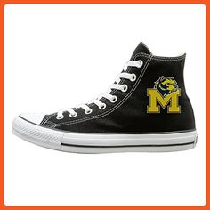 WS Unisex Classic University Of Michigan U-M UM UMich U Of M Wolverines Slip-On Shoes Black Size42 - Sneakers for women (*Amazon Partner-Link)