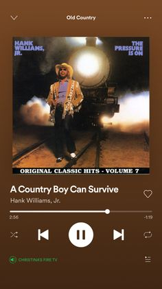 Country Music Lyrics, Country Songs, Country Boy Can Survive, Country Playlist, Best Country Singers, Hank Williams Jr, Cool Countries, Me Me Me Song, Survival