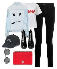"""Untitled #3793"" by theaverageauburn on Polyvore featuring J Brand, Miss Selfridge, SO and Ray-Ban"