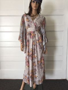 Vintage 70s Angel Sleeve Empire Waist Maxi by GypsysClosetVintage