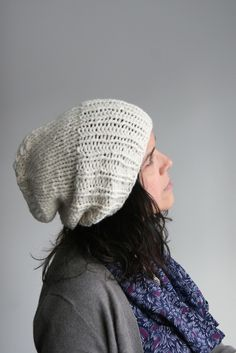 """i wear knit hats because it's cold out. you wear knit hats because of coldplay."" Hand Knit Hat, $50"