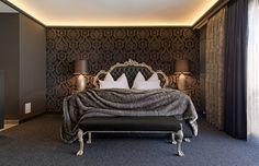 Kuschelhotel in Salzburg Bed, Design, Furniture, Black, Home Decor, Black People, Home Furnishings, Interior Design, Home Interiors