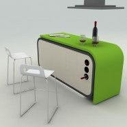 Turkish Kitchen_Futuristic fold-in kitchen for small apartments, designed by an Ankara based student.