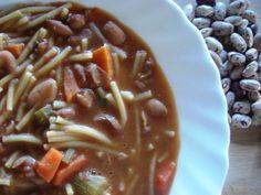 Soupe de petits spaghetti et haricots secs Borlotti Spaghetti, Tupperware, Carne, Crockpot, Chili, Menu, Cooking, Ethnic Recipes, Facebook