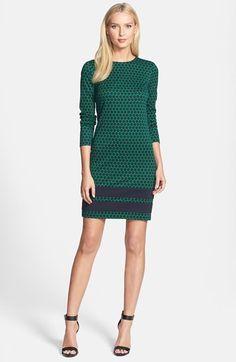 Dot Print Ponte Dress. #fashion #women #michael kors #dress