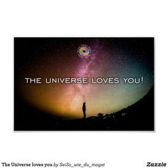 The Universe loves you Poster Universe Love, Love You, Movies, Movie Posters, Fiction, Business Cards, Universe, Artworks, Pictures