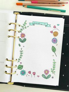 Printable planner insert for journaling in your planner or bullet journal not. Bullet Journal Lettering Ideas, Bullet Journal Banner, Bullet Journal Hacks, Bullet Journal Notebook, Bullet Journal School, Bullet Journal Ideas Pages, Bullet Journal Inspiration, Book Journal, Daily Journal