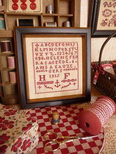 Red Alphabet sampler