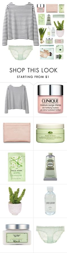 """""""Basil"""" by etheras ❤ liked on Polyvore featuring Wood Wood, Clinique, Acne Studios, Origins, H&M, Lux-Art Silks, Guide London, Lord & Berry, Laura Mercier and La Compagnie de Provence"""