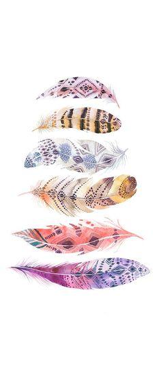 Watercolor feathers & drea
