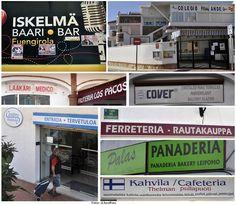El paisaje publicitario en finés en Fuengirola es el signo más palpable de la preferencia de los finlandeses por esta ciudad