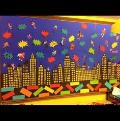 Superhero display! A great way to get the whole class involved with the display.