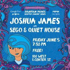 Provo's Rooftop Concert Series Poster for June 5, 2015. Designed by Steve Vistaunet