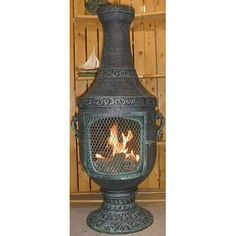 Outdoor heaters fire pits chimineas on pinterest for Outdoor fireplace spark arrestor