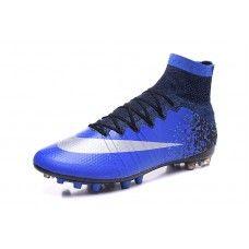 7cfb6379dcad8 Nike Mercurial - Mejor Nike Mercurial Superfly CR7 AG Negro Azul Botas De  Futbol Soccer Boots