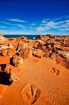 Dinosaur footprints Broome – Australia's North West Travel Photography Tasmania, Broome Western Australia, Wanderlust, Australia Travel, Australia Visa, Australia Photos, South Australia, Melbourne Australia, Adventure Travel