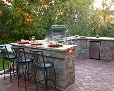 ****More functional bbq area for remodel .  30 Impressive Patio Design Ideas