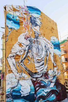Increíbles obras de arte callejero en Madrid, España a cargo de laguna