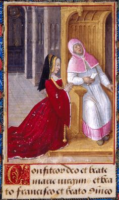 1492 - 1495 - Anne de Bretagne at Confession https://hemmahoshilde.wordpress.com/2015/09/13/poor-anne-of-brittany-lost-all-the-kids-she-had-with-charles-viii/ <-- You're welcome to read more about Anne of Brittany on my blog :).