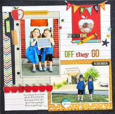 Off They Go ~Simple Stories~ - Scrapbook.com