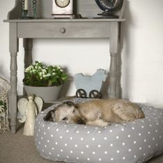 Bolster Dog Bed / Doughnut Dog Bed - From Britain with Love