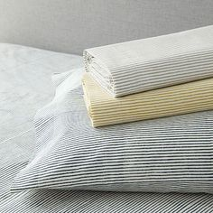 Organic Wavy Stripe Sheet Set Collection #westelm - cheaper organic bedding is available at west elm