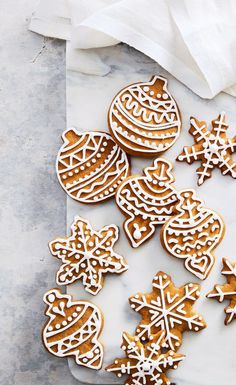 These gingerbread cutout cookies are SO addictive Use Christmas cutouts for pretty Holiday versions Food styling by Claire Stubbs Prop styling by Renée DrexlerTh. Christmas Desserts, Christmas Treats, Holiday Treats, Holiday Recipes, Christmas Cookies Cutouts, Christmas Recipes, Holiday Baking, Christmas Baking, Christmas Time