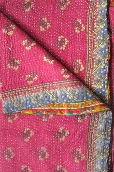 love these vintage kantha quilts