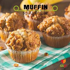 5 Surprising Ways to Use Protein Powder - use Arbonne in muffins! Banana Nut Muffins, Sin Gluten, Gluten Free, Healthy Desserts, Healthy Baking, Wine Recipes, Favorite Recipes, Flan, Stevia