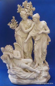 RARE 18THC CHELSEA DERBY FIGURE GROUP CLASSICAL BISQUE figurine porcelain 1770