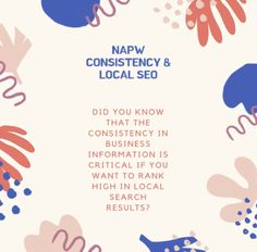 """NAPW"" stands for Name, Address, Phone Number and Website, the 4 most basic things about your business. If search engines find varied details about your company, they are discouraged to show your listing. Advertising Channels, Local Advertising, Local Seo, Business Names, Search Engine Optimization, Engineering, Number, Website, Phone"