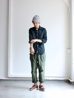A Vontade Fatigue Trousers - love the way the Japanese add a unique perspective to basic clothing