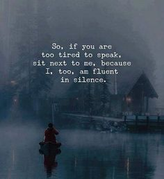 Silence is bliss #infj #introvert