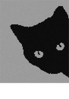 Needlepoint Kit or Canvas: Cat Around Corner