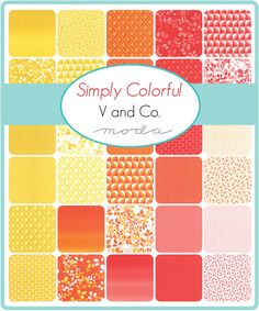 Simply Colorful by V and Co. for Moda Fat Quarter Bundle from Lady Belle Fabric