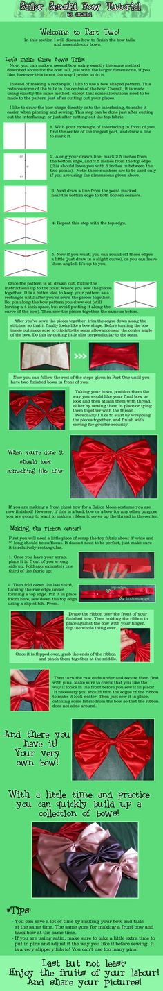 Used this tutorial to make the bows for my sailor mars costume... they were perfect! :)