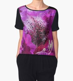 Azalea Moods women's chiffon top featuring the art of Carol Cavalaris.