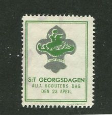 Poster Stamp Label SWEDEN BOY SCOUTS DAG ST GEORGSDAGEN
