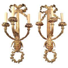 1stdibs.com | Pair Of Bronze Sconces