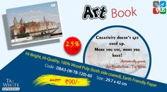 Buy Online Art Book A3 29.7 X 42 Cm Cartraige Sheet Pg60 at Tajwhite.in with 25% Discount. #ArtNoteBook #Tajwhite #CartraigeSheet