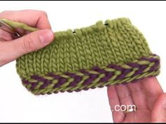 How to knit a braided edge - YouTube