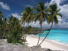 One of the beaches on the Dutch side of Sint Maarten. Absolutely breathtaking beaches and views of neighboring island of Saba Barbados Honeymoon, Barbados Beaches, Sandy Beaches, The Beach, Beach Fun, Costa Leste, Cruise Destinations, Amazing Destinations, Most Beautiful Beaches