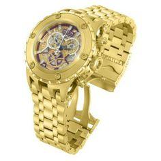 Relógio Invicta Subaqua Chronograph Gold-tone Skeletal Dial Gold-tone Stainless Steel Mens Watch 13744 #Relogios #Invicta