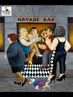Miguel in the Ramblas. Artwork by Beryl Cook Comic Art Girls, Beryl Cook, Funny Sexy, English Artists, Hens Night, Naive Art, Bar, Portraits, Health And Wellness