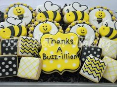 Bumble Bee Thank You Cookies on Etsy, $38.00