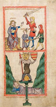Speculum Humanae Salvationis, Westfalen oder Köln, um 1360. ULB Darmstadt, Hs 2505, fol. 23r
