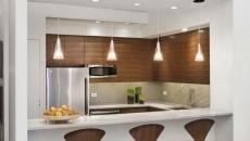Petite cuisine créative à l'espace originalement délimitée dans l'appartement