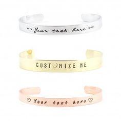 Persoonlijke tekst armband - zilver / goud / roségoud - 6 lettertypen - smal of breed