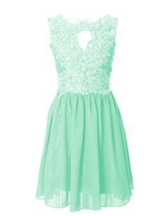 Dressystar Short Lace Chiffon Bridesmaid Dresses