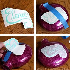 DIY Personalized Glitter Ornaments | Where The Smiles Have Been #GlitterOrnaments